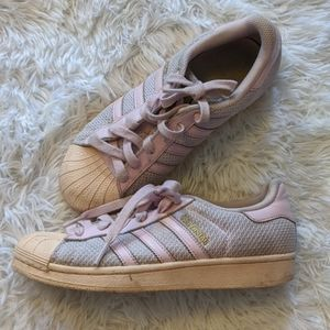 Adidas Rose Pink Superstars